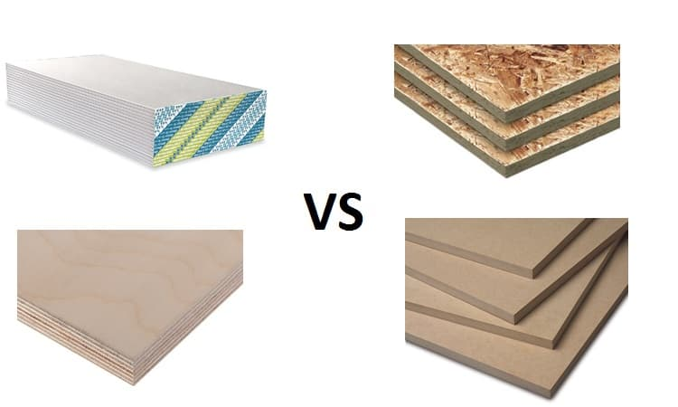 Drywall vs OSB vs Plywood vs MDF for Soundproofing