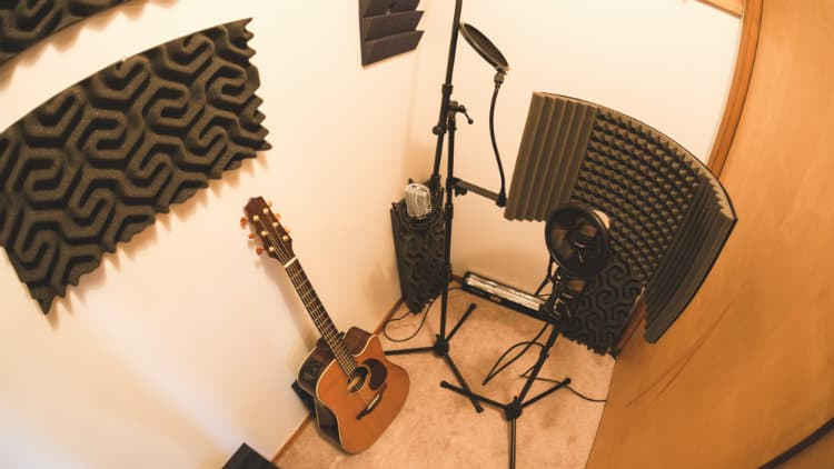 Recording studio booth