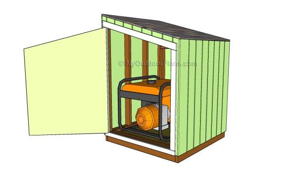 portable generator sound enclosure
