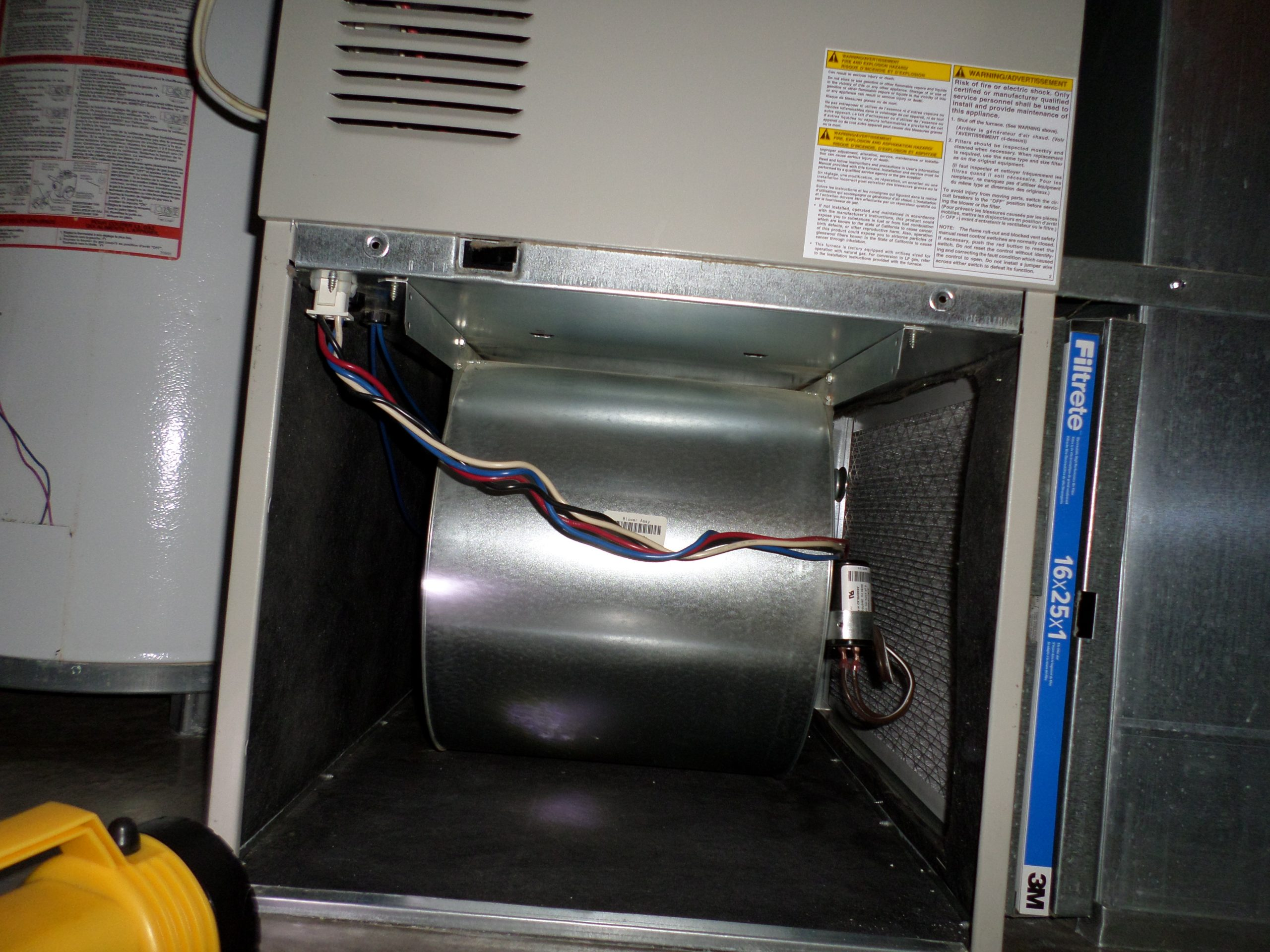 open furnace cabinet