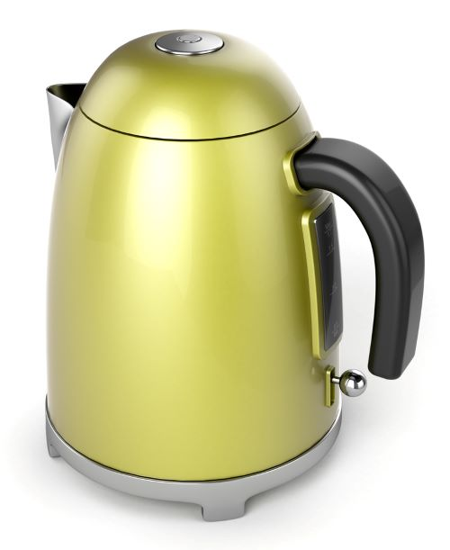 quiet electric kettle - yellow
