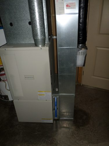 Furnace with return air duct attached