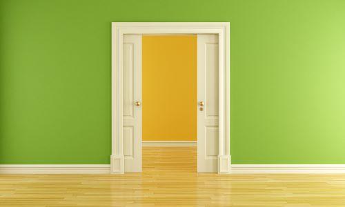 two pocket doors