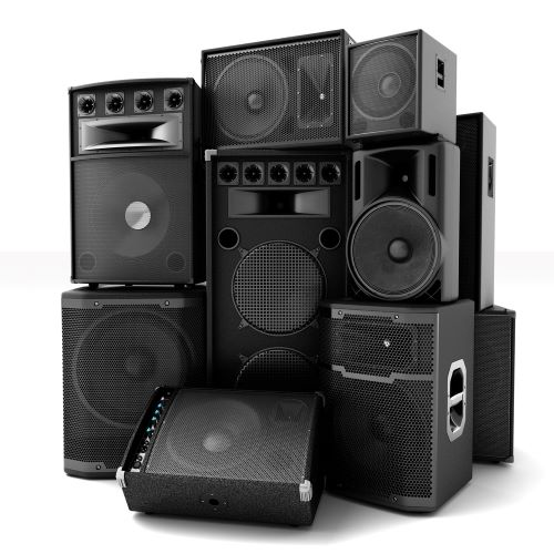 stack of speakers