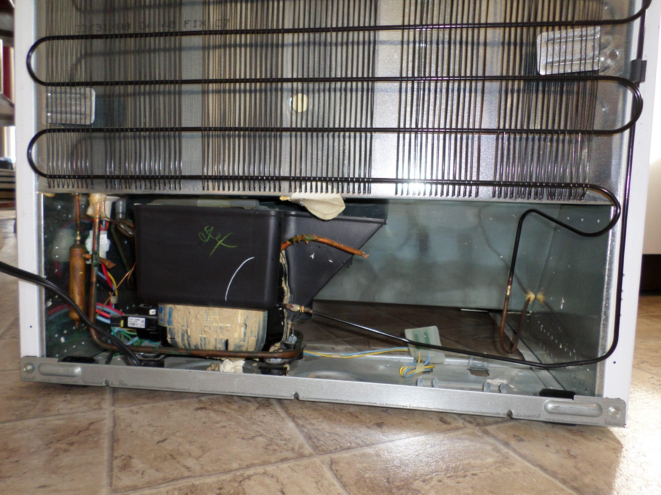 Refrigerator compressor, back view