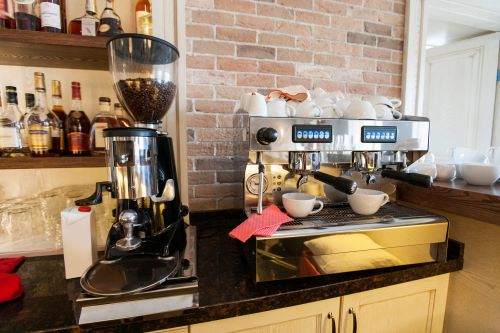 coffee grinder on kitchen counter