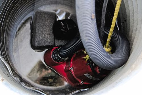 sump pump in pit