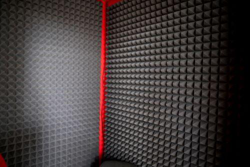foam in soundproof closet